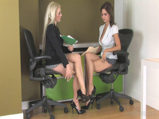 Chanel and Chrissy in the Office