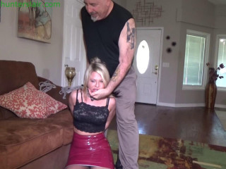 Brutally gagged and horribly hogtied