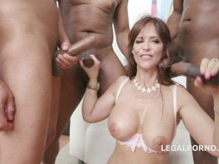 Interrcial Gangbang With Double Anal For Big Boots Milf