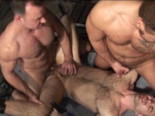 Massive Muscle Hairy men