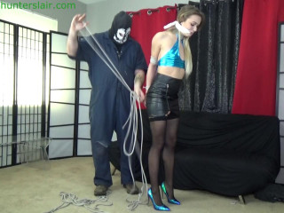 Stalked bound, gagged and  by the home invader