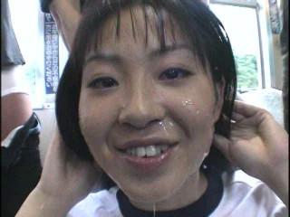 Mass ejaculation Circle Aoyama Walnut Blue Sky