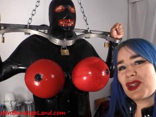 Chastity Fashion Show - Birdlocked Neo - Rubber Torpedo Tits Sissy Slave