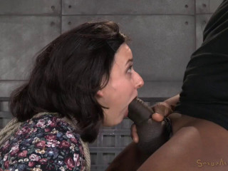 Black-haired novice Amy Faye roped