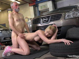 Blondie gets a special service in the garage