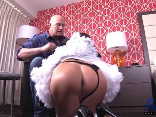 Submissive French Maid Loves Cock