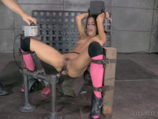 Hot Hispanic Lyla Storm gags on 10 inch BBC while bound to fucking