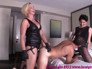 Hubby Fucked By Wifey And Cuck Baby sitter