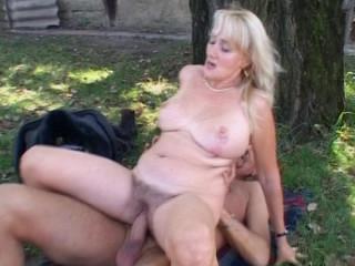 Mature lady gets pummeled