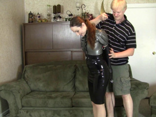 Crystal Clark - Latex Bondage With Mr Big Boss