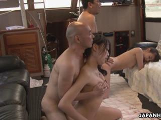 Nanami Aibu, Sae Yukino and Aira Masaki punished in a threesome