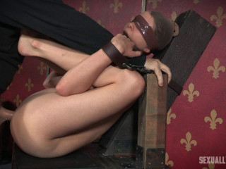 Bendy Zoey Laine is toughly dual plowed to thick spraying orgasms! Bound, Gagged and Helpless!