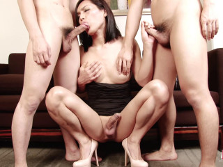 Hot Threeway Fuck With Sexy Ladyboy