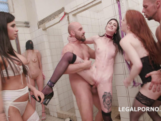 Hot Anal Sluts In Piss Gangbang At Toilet