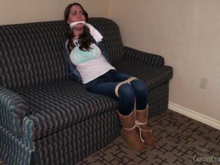 Bound & Burgled In Her Jean Jacket & Boots
