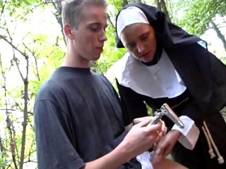 Kinky sex with a nun