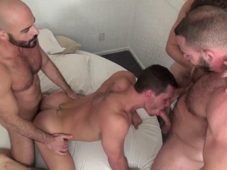 Bareback Gang Fucked Vol. 5 (hd) - Tate Ryder, Jeff Kendall, Dusty Williams