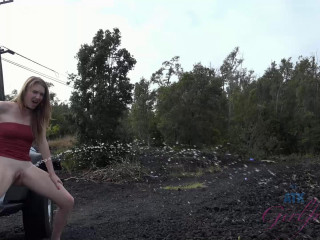You explore the lava flow with Ashley