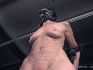 Bondage, domination and spanking for naked slavegirl (part 2)