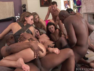 Orgy Masters Interracial Anal And DP Fest  03.02.2016