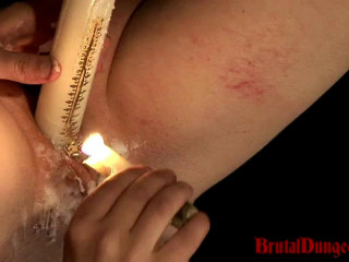 Witch Mathilda Suffers Candle Paraffin wax Torture & Steaming Mess Have fun Part 2 - BrutalDungeon