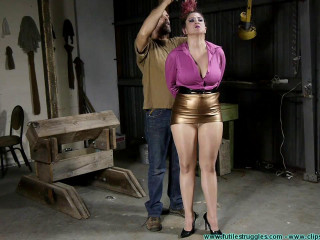 Gia Rides the  While Bound in Nylons - Part 1