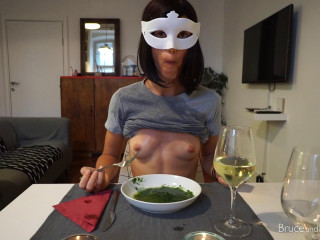First Date - Piss and Cum On Her Dinner