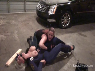 Cop Out! Buxom Officer Silvers Subdued, Hogcuffed &  by Brutal