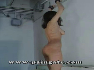 Amateur Gate - Betty bullwhipped on a platform