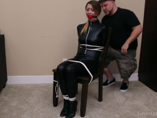 Agent Chrissy Chair Tied & Tortured