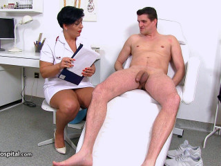 Adorable Euro Milf doctor Melanie gets a big fat dick