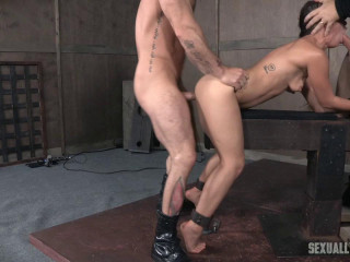 Lil' Devi Lynne gets savagely deep-throated with gigantic meatpipe and harshly fucked into the ground