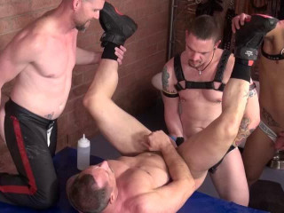 Rough Gangbang For Brutal Pigs
