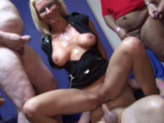 Mass ejaculation Group sex Breezies