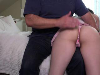 Casey Calvert Valentine Day Spanking - A Good Dose Of The Belt