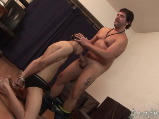 Old-on-Young Tearing up With a Gay Restrain bondage Twist