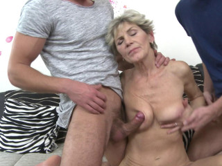 Irenka S - naughty mature damsel having a three-way FullHD 1080p