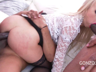 Kira Thorn balls deep double anal with three Bbc (2018)