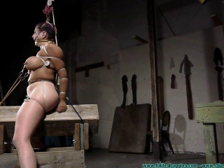Gia Rides the Horse While Bound in Nylons - Part 4