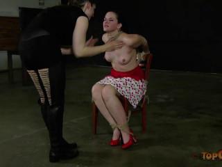 Restrain bondage Woman - Caroline Pierce, friend Dee