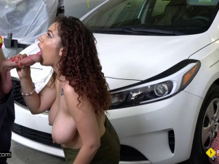Samantha Rose Gets Fucked Balls Deep On The Floor Of Her Mechanics Garage