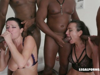 Interracial gangbang & fisting cartel with DP fuck