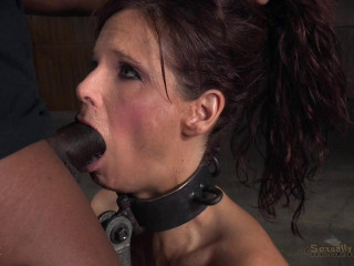 Big breasted sexy MILF Syren de Mer in relentless live action bound