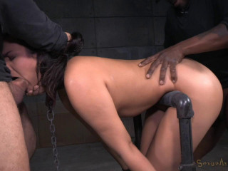 Tied in Device Restrain bondage and Harshly Fucked!