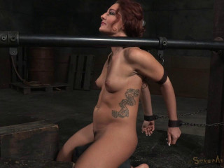 Savannah Fox - Cool sybian saddle tramp chained down and facefucked sans mercy by BBC (2015)