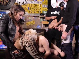 Julie Skyhigh gangbang - pt.4 the 2 bar sluts