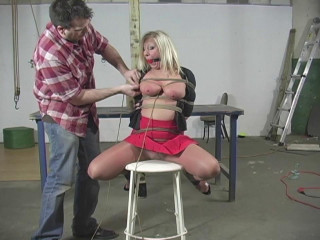 Crystal Frost Begs for Tight Bondage - Extreme, Bondage, Caning