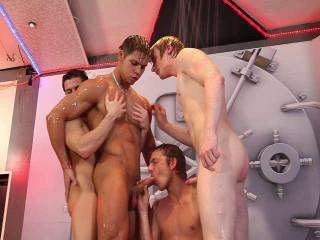 Filthy bareback orgy