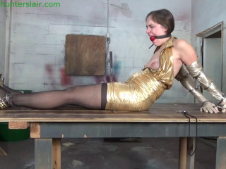 Cuffed & chained to his table for cruel breast vacuum torment