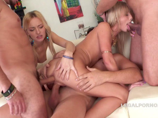 Double Addicted Gangbang For Little Sluts